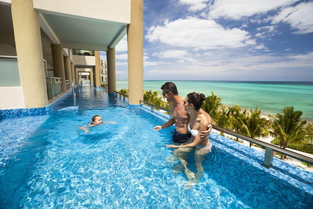 Chambre avec piscine mexique