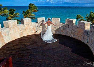 beautiful bride photo at sanctuary cap cana
