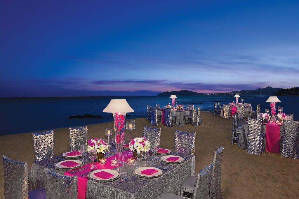 beach wedings private diner dreams hotel