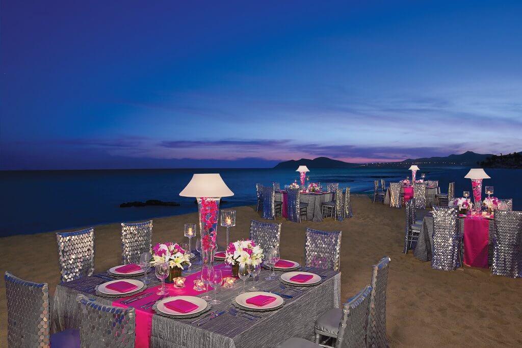 beach wedings private diner dreams hotel