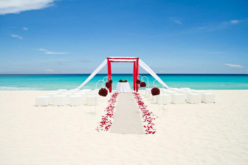 Sandos luxury cancun mariage