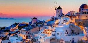 lune de miel santorini grece
