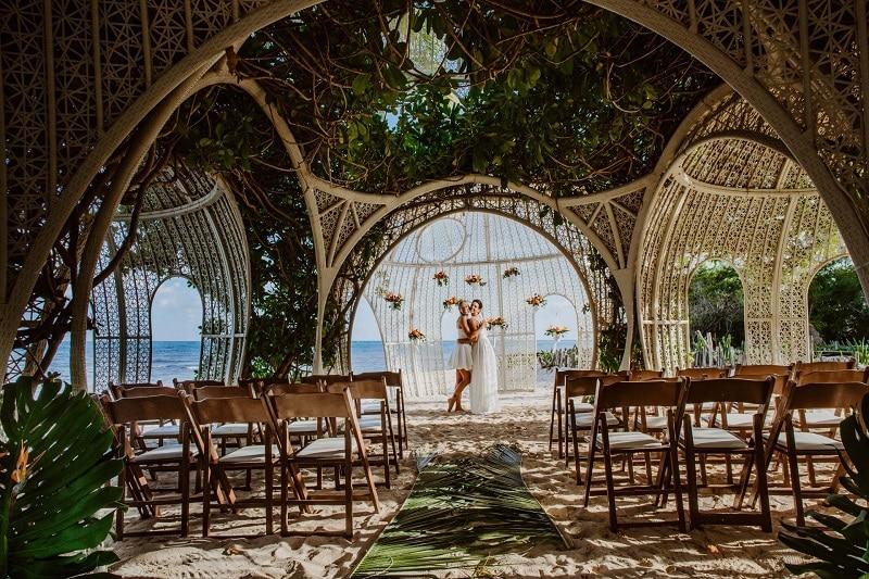 gazebo mariage mexique