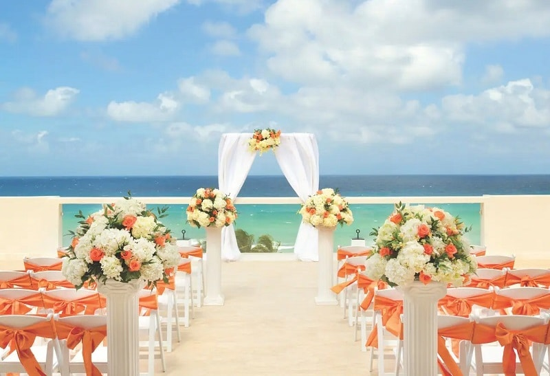 hotel mariage intime avec terrace